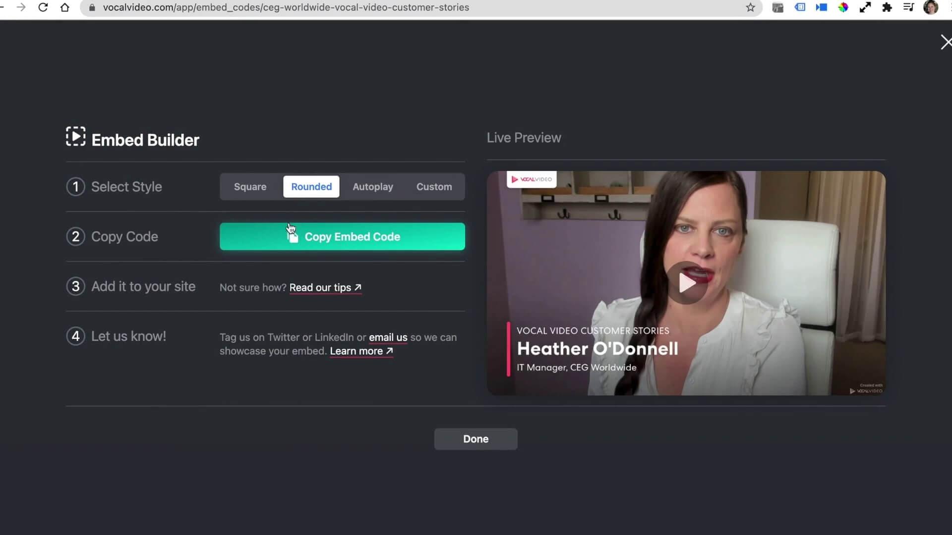 sharing videos
